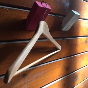 Suspended painted wooden wall hook