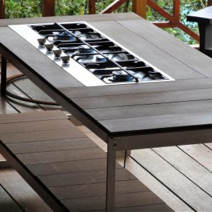 Stand alone outdoor kitchen