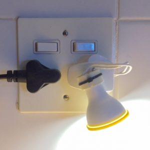 'Plug n' Play' SA wall light
